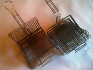 Tostada Mould Fry Baskets for Flat Shells (2) Mexican Food Taco Maker