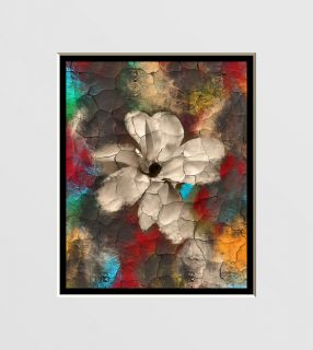Abstract Floral Interior Home Decor Wall Art Matted Picture