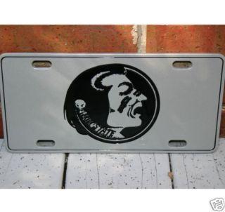 Florida State Seminoles Metal Pewter Look Car Tag License Plate New