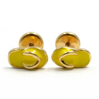 Tiny Flip Flops Gold 18K GF Earrings Baby Girl Kids Yellow Enamel High