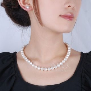 80 Off FreeS H 6 7mm 18in AAA Akoya White Pearls Necklace Earrings 14k
