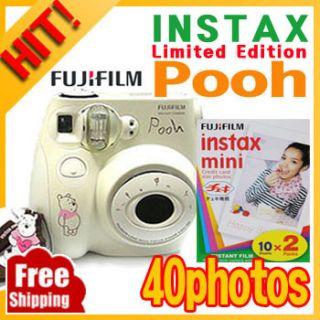 Fujifilm Instax Mini 7S Pooh Film Camera Instax Mini Film 4PACKS