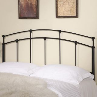 Queen Full Size Metal Headboard in Black