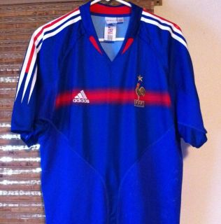 Official Adidas France FFF Embroidered French Soccer Jersey L Large