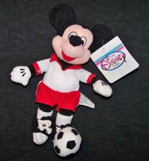 Disney Mickey Mouse Soccer Bean Bag Plush Toy Sport