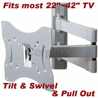 Full Motion Extend Arm Plasma LCD LED TV Wall Mount 22 23 24 26 32 37