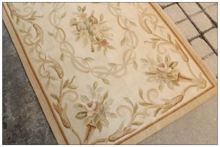 Pastel Antique French Aubusson Area Rug Free SHIP Country Home Decor