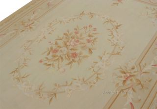 COUNTRY FRENCH PASTEL Aubusson Area Rug FREE SHIP! Wool Handmade NOT