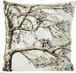 Cushion Pillow Cover Pierre Frey Fabric Meditation Tree Artistic