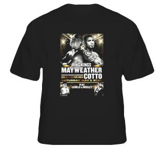 Floyd MAYWEATHER Jr vs Miguel Cotto May 5th Fight Poster Boxing Tshirt