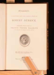 Selection Lyrical Poems Robert Herrick Francis Turner Palgrave
