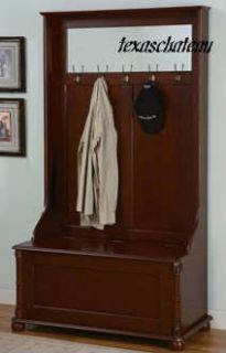 British Colonial West Indies Style Furniture ENTRY HALL TREE STORAGE