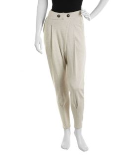Fluxus Terry Cloth Tapered Pants Cozy White