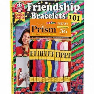 Friendship Bracelets 101 Book with 36 Primary Colors of Prism 6 Strand