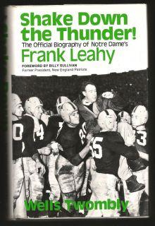 Shake Down The Thunder NOTRE DAME FOOTBALL Frank Leahy 1974