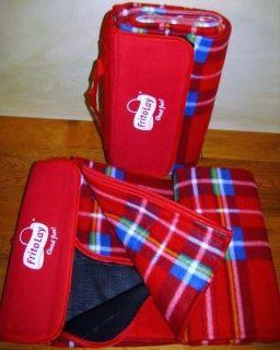 New Frito Lay Stadium Blanket Picnic Throw 45x52 Red Plaid Fleece