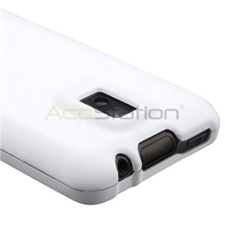 White Rubber Hard Case Cover for LG T Mobile G2X Screen