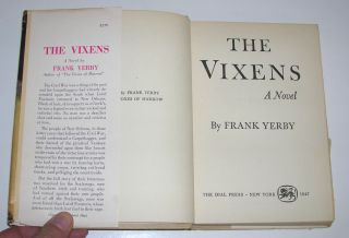 1947 1st Ed HC The Vixens A Novel by Frank Yerby African American