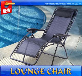Gravity Chair Folding Recliner Patio Pool Lounge Chairs Outdoor