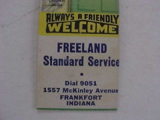 1950s Era Frankfort Indiana Freeland Standard Oil Gas Service Station