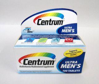 New Centrum Ultra Mens Multi Vitamin Mineral Supplement 100 Tablets