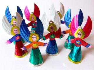 MEXICAN TIN FOLK ART ANGEL DECORATION / CHRISTMAS ORNAMENT