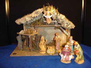 Seven Piece 5 Fontanini Nativity Set with Wonderful Stable