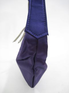 you are bidding on a hand maid by michelle frantz purple satin handbag