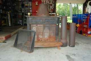 Montgomeryward Franklin Heater YMT 21015R Wood Burning Stove Great For
