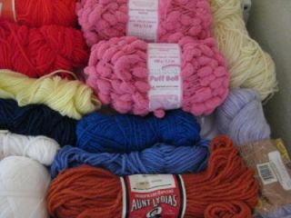 huge mixed lot yarn 11lb full partial skeins 2