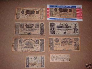 Currency 1803 1845 Granville Ohio City Gallipolis Kirtland Replica
