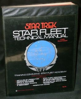Franz Joseph Star Trek Star Fleet Technical Manual 1975