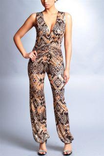 Spaghetti Strap Tube Jumpsuit Full Length Pants Stretchy Dress Print