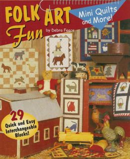 Folk Art Mini Quilts More Quilts Pillows Game Board Book