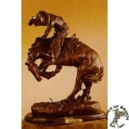 RATTLESNAKE by Frederic Remington Bronze Handcast Sculpture w Marble