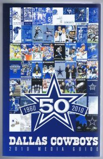 2010 Dallas Cowboys NFL Football Media Guide