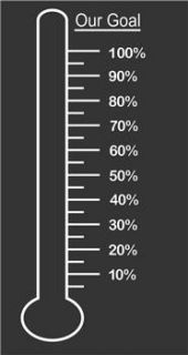 Fundraising Goal Thermometer Vinyl Decal Perfect for Dry Erase Boards