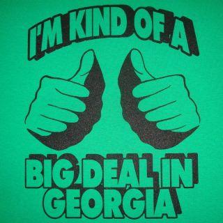Georgia Funny Vintage Gag Party Large Football T Shirt