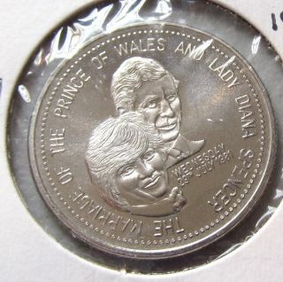 OF WALES LADY DIANA 1981 ROYAL WEDDING FREDERICTON N B RARE COIN TOKEN