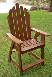 Adirondack Solid Wood Outdoor Living Patio Furniture Bar Chair