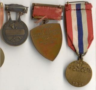 14 Post WWI to 1950 US Army Engineer Shooting Medals, Ribbons & Badges