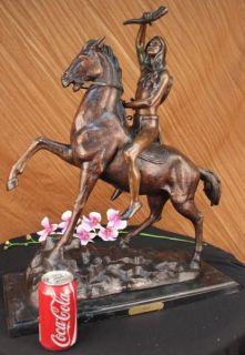 Frederic Remington Scalp Bronze Sculpture Statue Art Nouveau Figure