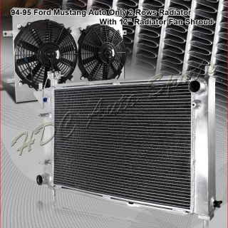 94 95 FORD MUSTANG GT GTS SVT AUTOMATIC 3 ROW CORE ALUMINUM RADIATOR