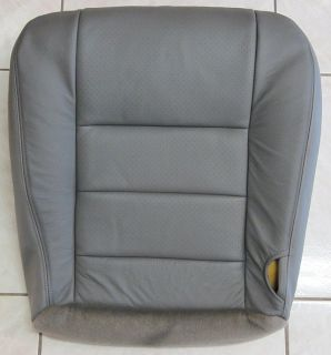 Ford F250 F350 PERFORATED Leather Driver Side Bottom Seat Cover GRAY