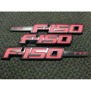 2012 12 F 150 F150 OEM Genuine Ford Parts RED FX2 Emblem Set NEW