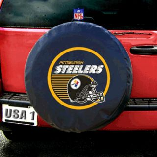 Pittsburgh Steelers NFL Heavy Duty Black Vinyl Spare Tire Cover
