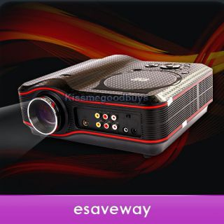 New Portable Projector 800x600 Home Theater EVD DVD MP4 RMVB Player w