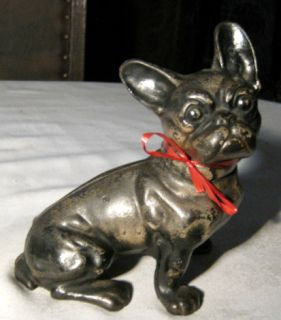 ANTIQUE HUBLEY FRENCH BULLDOG CAST IRON GARDEN ART STATUE HOME TOY DOG