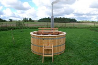 Wooden Barrel Hot Tub Outdoor Bath Jacuzzi Spa Bath Garden Pool Wooden