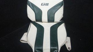 GIII GREEN WHITE BASS PONTOON BOAT SEAT COVER CUSHIONS K I 36